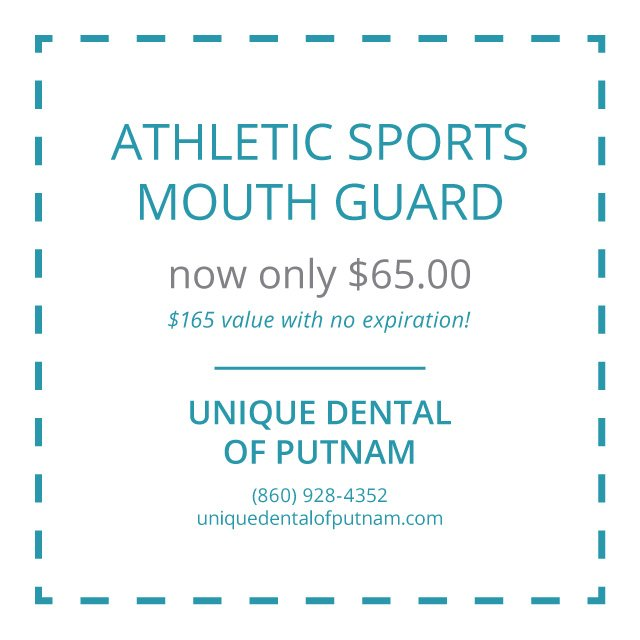 Unique Dental of Putnam - Athletic Sports Mouth Guard - Special Coupons